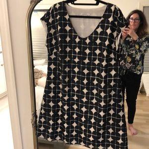 Issac Mizrahi Live Black and white silk dress